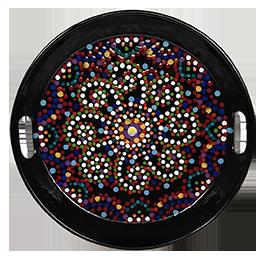Burbank Mosaic Mandala Tray