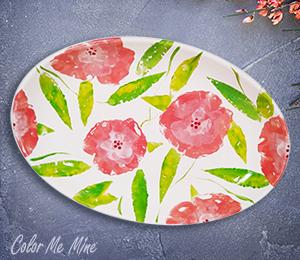 Burbank Floral Paper Stamping