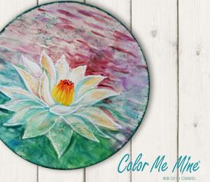 Burbank Lotus Flower Plate